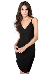 Textured Bodycon Dress with Shirttail Hem