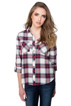Danika Plaid Shirt with Two Chest Pockets
