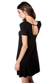Cap Sleeve Swing Dress with Pockets