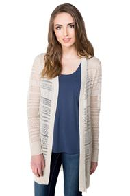 Pointelle Cardigan with Long Sleeves