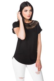 Top with Crochet Neckline