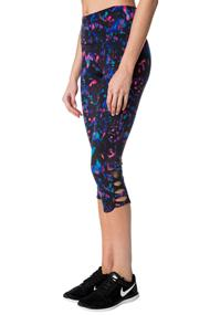 Tattoo Athletics Abstract Pattern Capri with Criss Cross Leg Detail