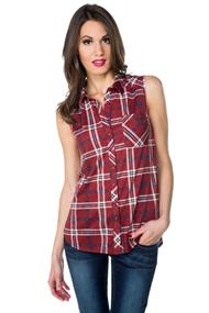 Sleeveless Shirt with High-low Hem