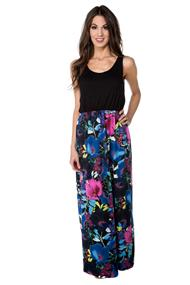Maxi Dress with Tropical Floral Skirt