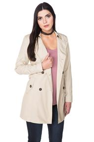 "Only ""Maria"" Long Trench Coat"