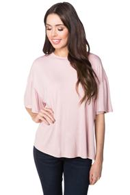 Oversized Top with Ruffle Sleeves