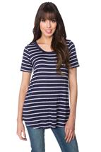 Striped Scoopneck Tunic