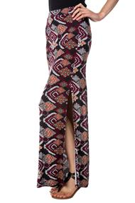 Mosaic Print Maxi skirt with Slit
