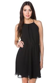 Chiffon Multi Strap Dress with Elastic Waist