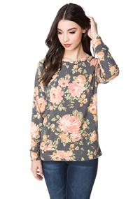 Large Floral French Terry Sweatshirt