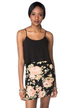 Floral Liverpool Dress with Solid Chiffon Cami