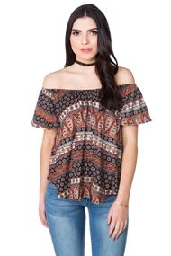 Boho Brushed Off the Shoulder Top