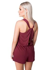Romper with Twisted Back and Pockets