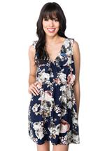 Crossover Floral Dress with Ruffle Detail