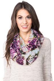 Animal Print Light Infinity Scarf