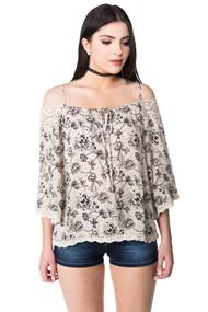 Off the Shoulder Boho Blouse