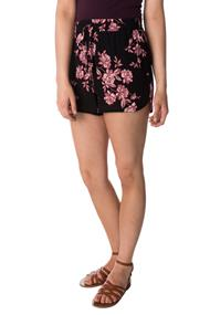 Floral Crepon Short with Drawstring