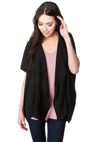 Poly Crepe Short Sleeve Blazer