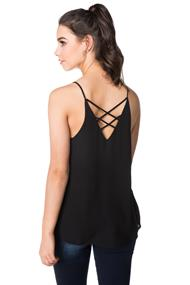Double V-neck Cami with Criss Cross Back