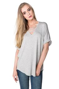Oversized Dolman Tunic with Criss Cross Detail