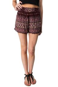Boho Crinkle Crepe Short with Crochet Trim