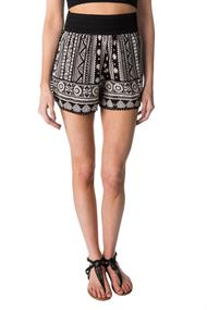 Boho Crinkle Crepe Short with Wide Waistband