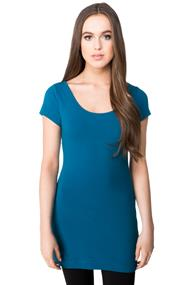 Essential Tunic Length Scoopneck T-shirt