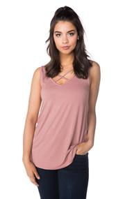 V-neck Criss Cross Tunic Tank