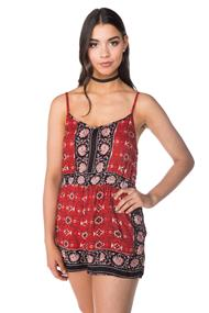 Angie Romper with Back Criss Cross Detail