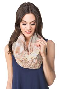 Light Patchwork Print Infinity Scarf