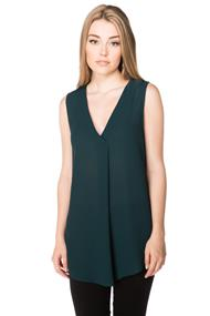 Tunic Length Sleeveless Blouse