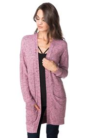 Super Soft Open Cardigan with Pockets