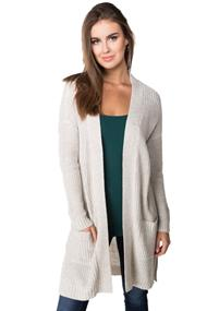 Oversized Cardigan with Pockets and Side Slits