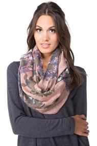 Light Infinity Scarf with Floral Pattern