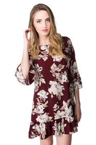 Floral Dress with Ruffle Hem