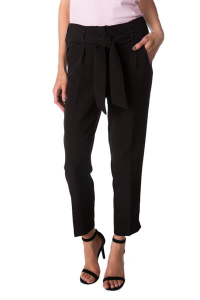Pleated Ankle Length Pant with Tie Belt