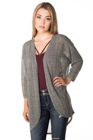 Cocoon Cardigan with Multi-Colour Flecks