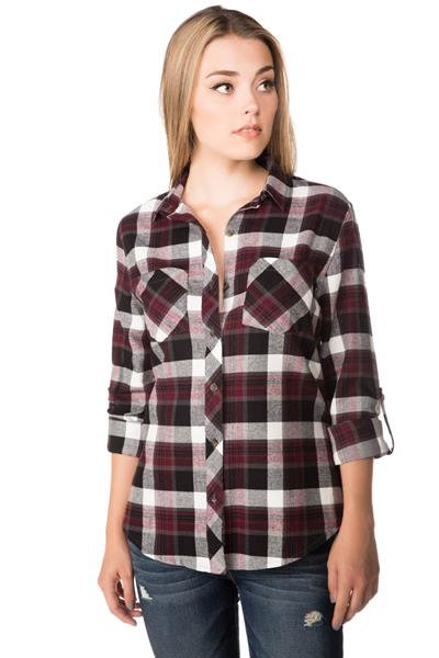 Delaney Plaid Shirt with Chest Pockets