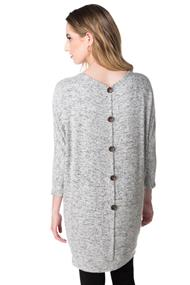 Super Soft Dolman Tunic with Back Buttons