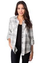 Jaida Plaid Shirt with Chest Pockets