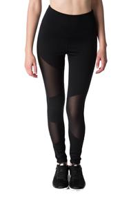 Legging with Asymmetrical Mesh Inserts