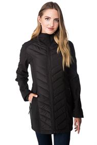 Tattoo Softshell Hooded Jacket with Chevron Quilted Detail