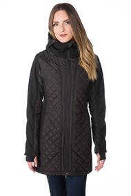 Tattoo Softshell Hooded Jacket with Quilted Detail