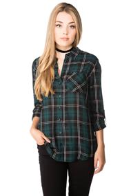 Alana Plaid Shirt with Roll-up Sleeves