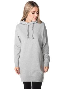 Tunic Length Hoodie with Zipper Details