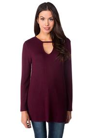 Super Soft Tunic with Keyhole Neckline
