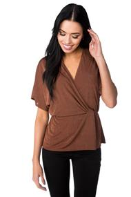 Dolman Surplice Top with Knotted Detail