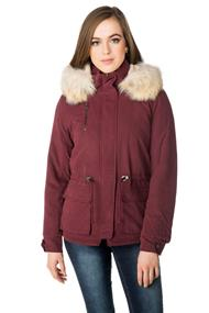 Only Starlight Parka with Faux Fur Trim Hood