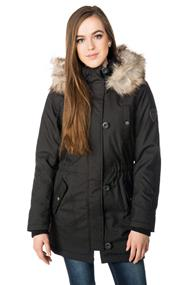 Only Iris Parka with Faux Fur Trim Hood