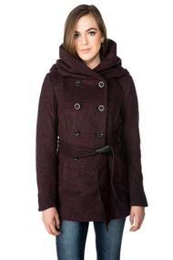 Only Mary Lisa Double Breasted Coat with Tie Belt
